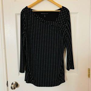 WHBM White House Black Market polka dot blouse, XL